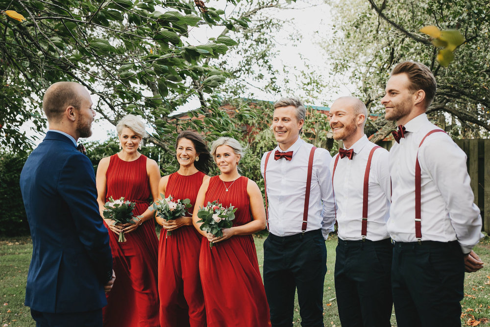 first look + bröllop