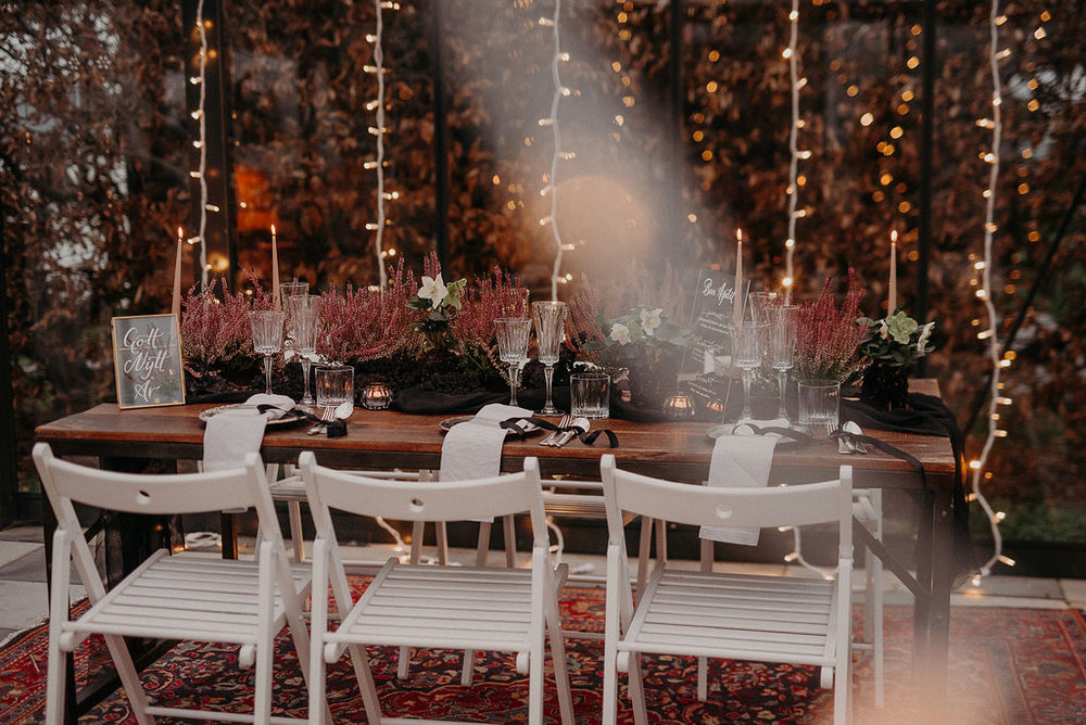 New Year's Eve Table Setting Wedding