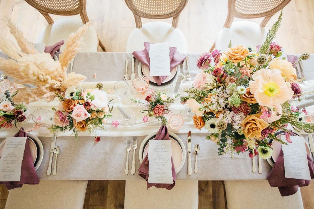 bröllop+vintage+boho+dukning