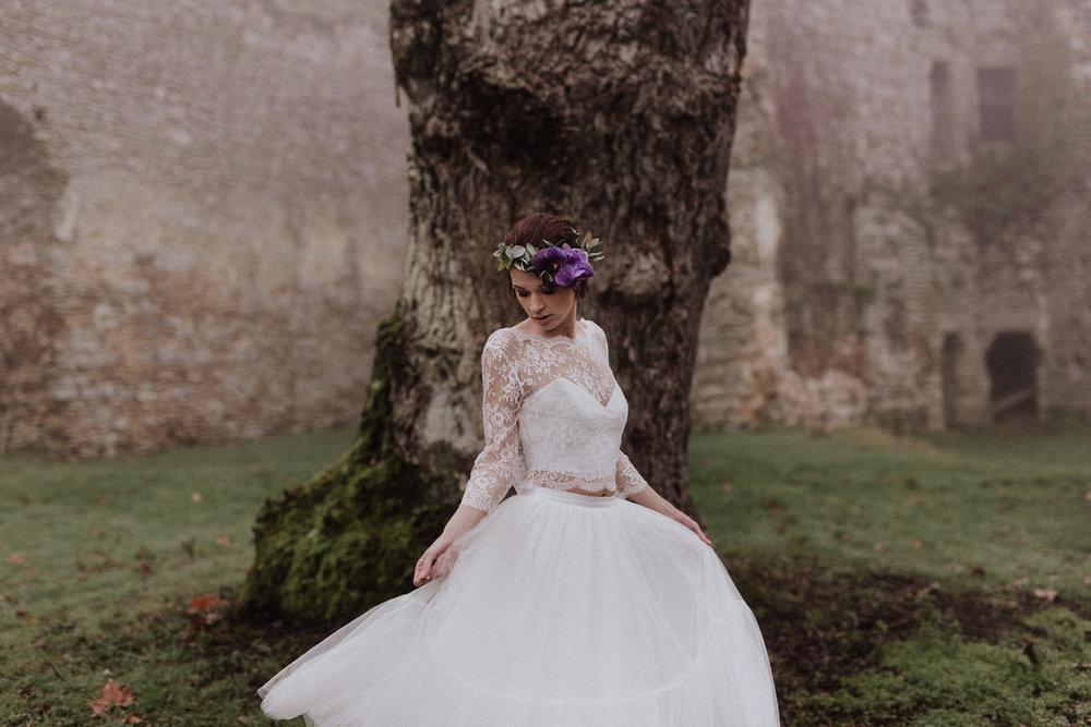 bröllop+rustiskt+slott+klänning