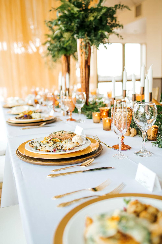 Winter Wedding Inspiration Table Setting