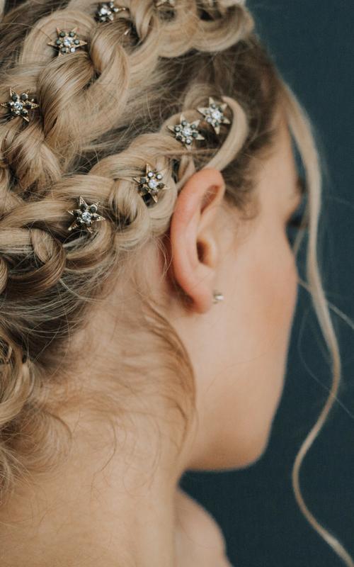 Indigo hair pins