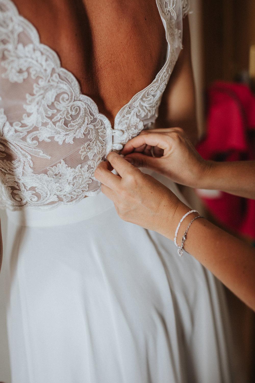 Bridal wear lace