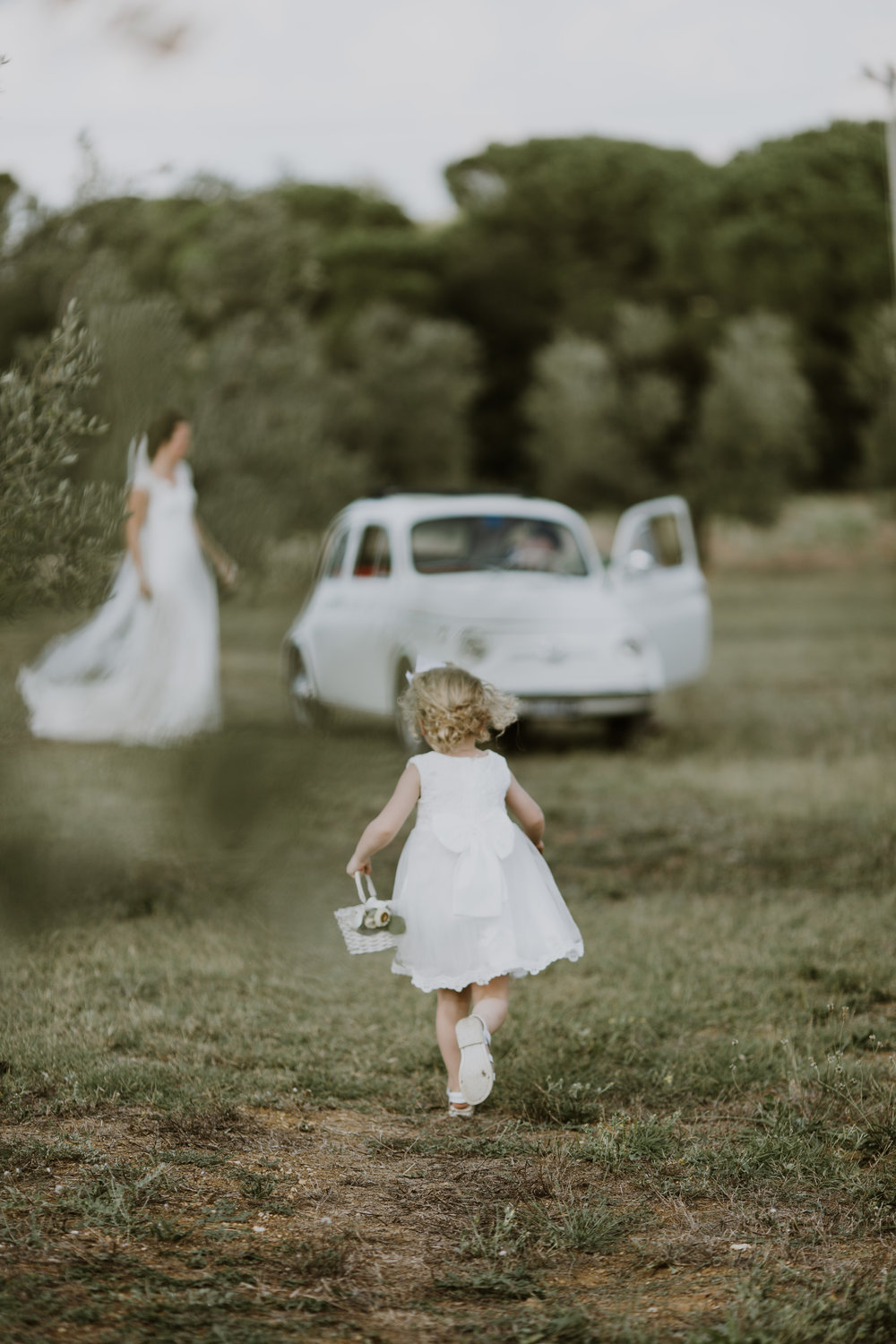 Tuscany wedding Destination wedding Flower Girl