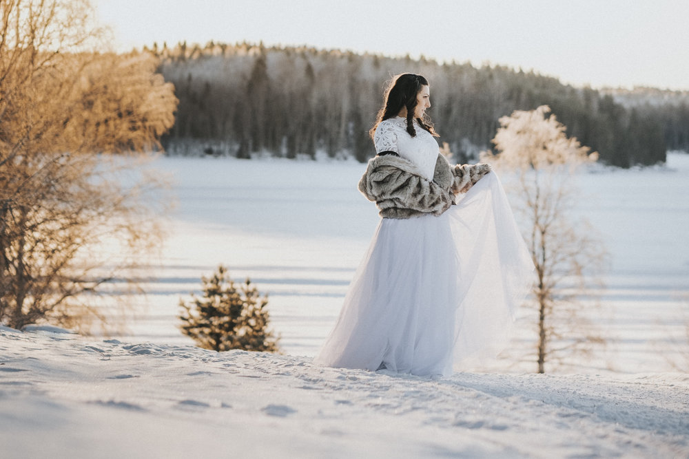 White tulle skirt from Sisters in Law