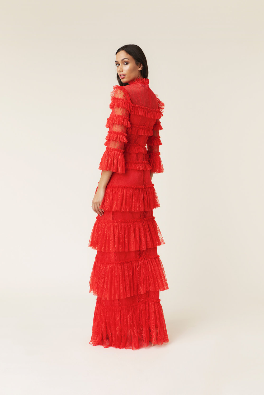 Röd långklänning , By Malina