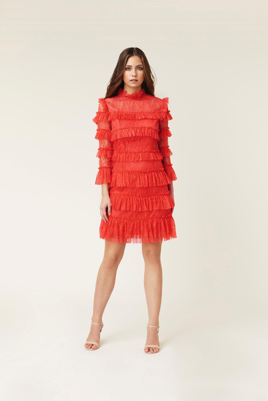 Röd klänning , By Malina