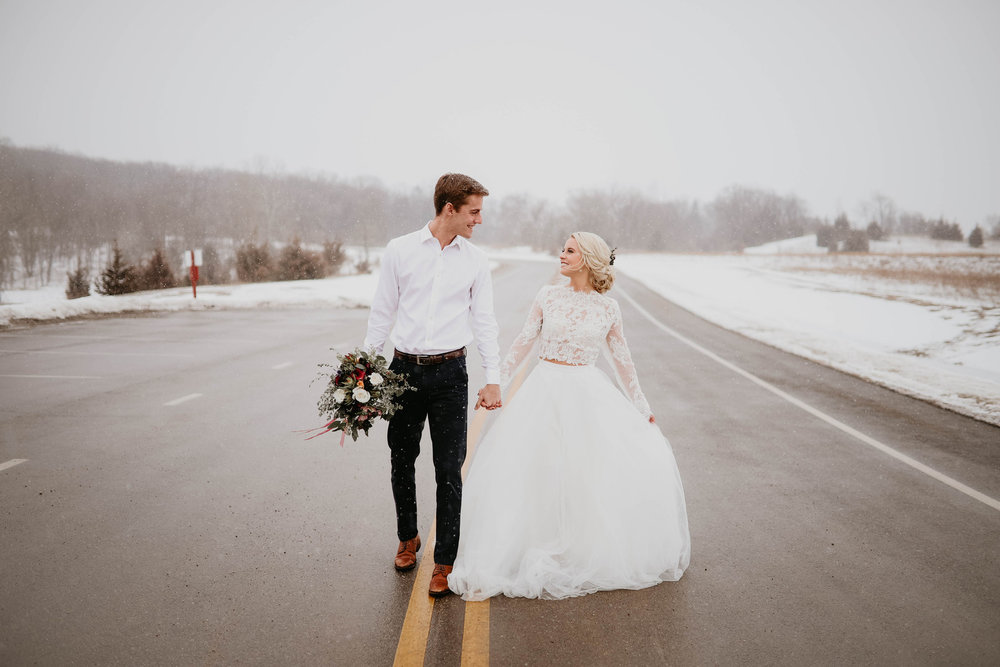 Bröllopsinspiration vinter