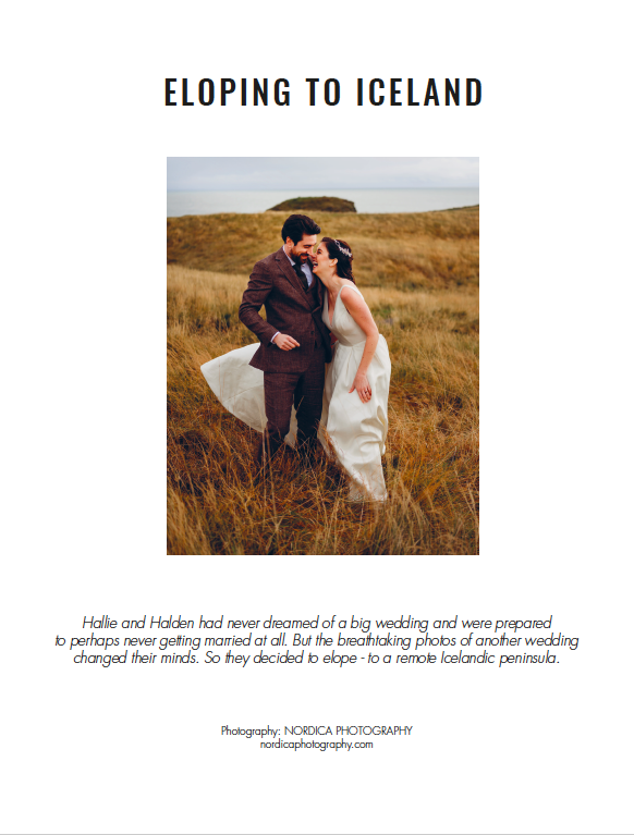 Eloping to Iceland