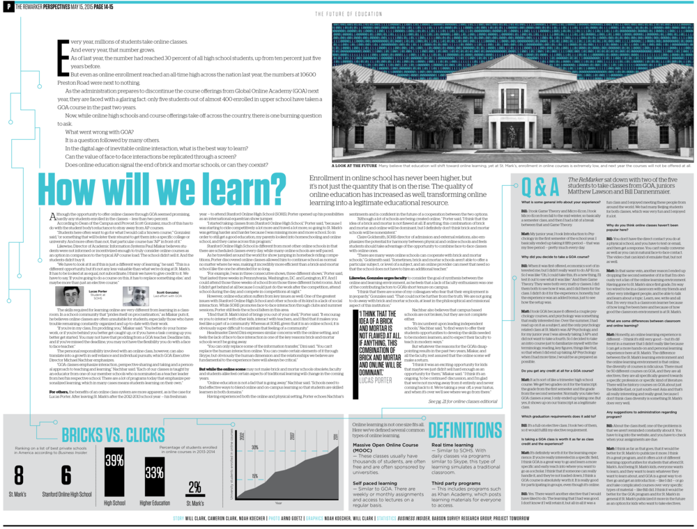 The tricky aspect of this design was the huge amount of content I needed to fit on the page to tell the story. While the design is tight, the variety of modules (from images to Q&A to infographics) frame the body copy and provide critical information that is easier to process.