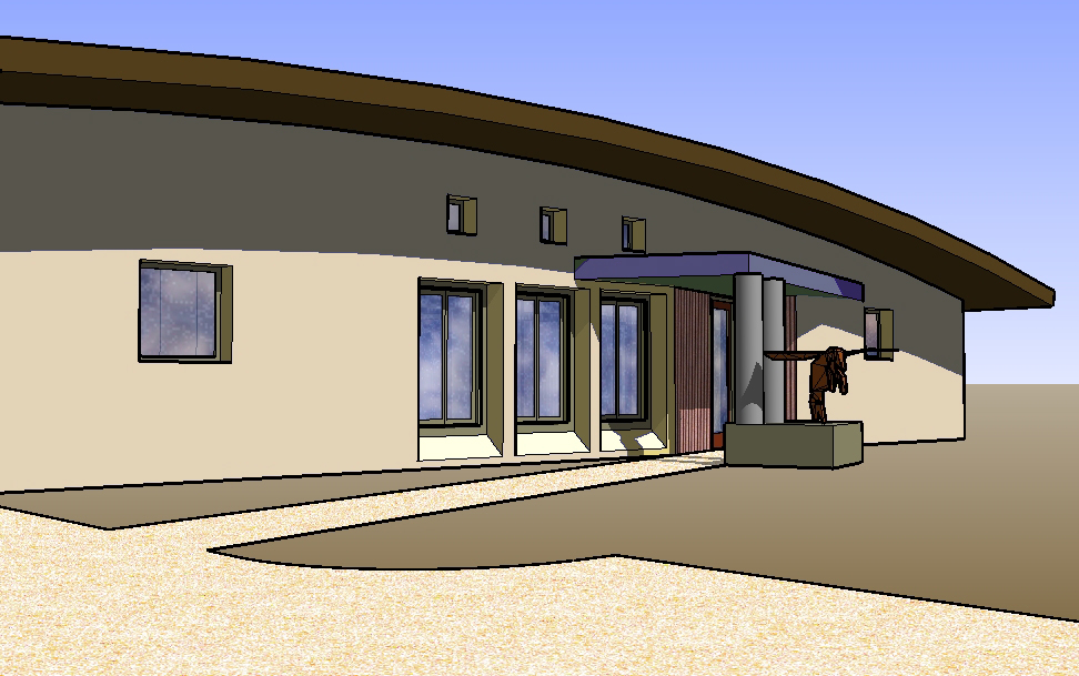 3D model sketch used for modeling solar shading.