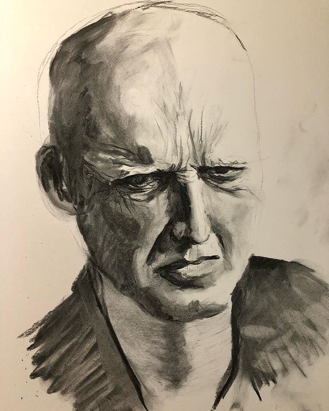 A portrait for my group, savvy painter growth studio... Boy am I out of practice with charcoal. . . . . #charcoal #charcoalportrait #maleportrait #emotion #confusion #anger #savvypaintergrowthstudio