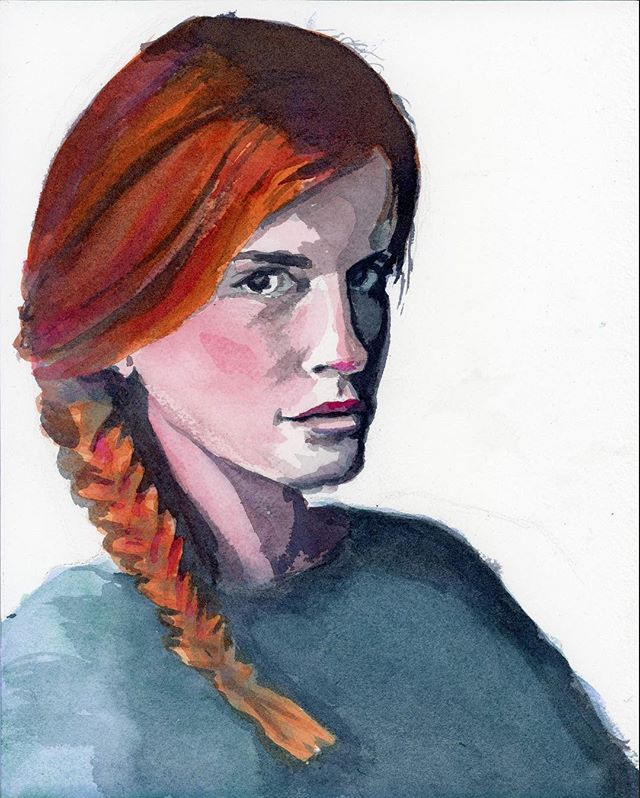 A little water color portrait study to continue the portrait challenge... . . . . . #portrait #watercolor #femaleportrait #savvypaintergrowthstudio #savvypainterinstachallenge #painting #art