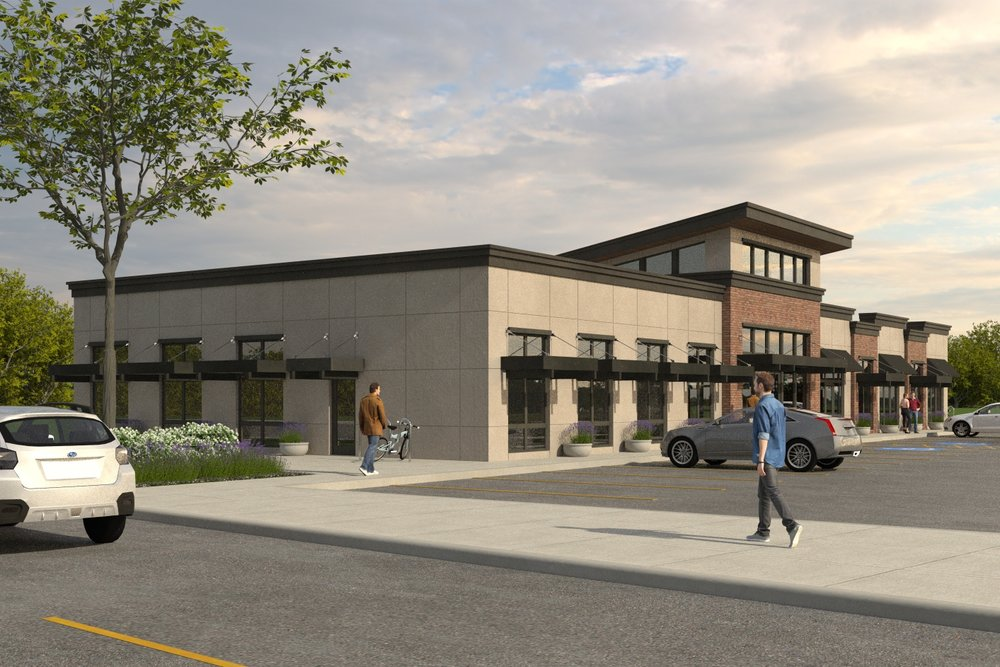 Tualatin Valley Hwy; New Commercial Building With Business and Restaurant Spaces - New Construction