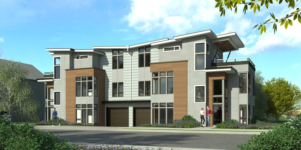 Duplex - New Construction - Crescent Custom Homes - Portland, Oregon