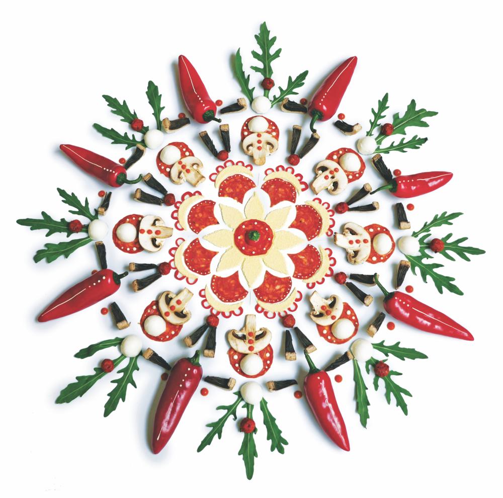 Rustica Piccante Pizza mandala pattern