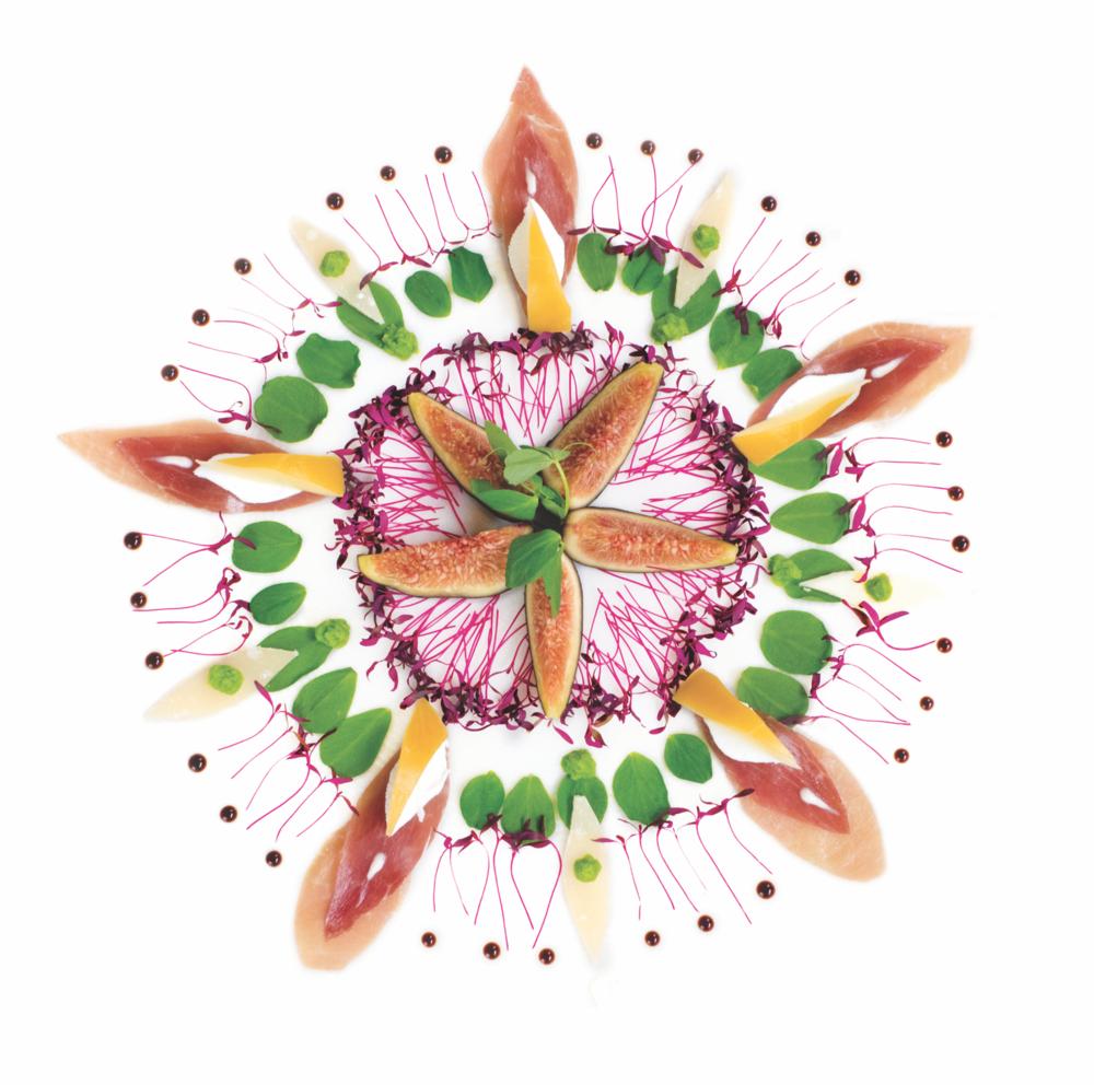 Prosciutto Fresca Rustica Pizza passion flower design