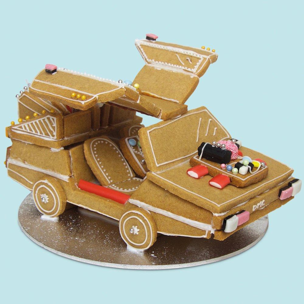 Gingerbread 'Back To The Future' DeLorean