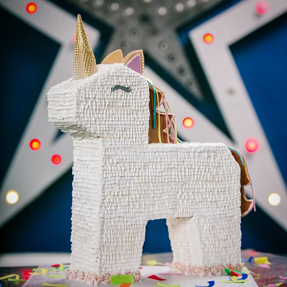 Gingerbread Unicorn Pinãta - filled with all your favourite sweets.