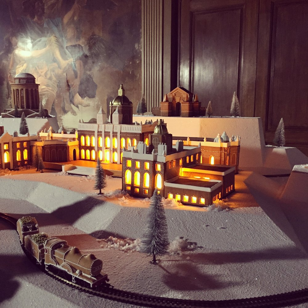 gingerbread castle howard with working gingerbread train