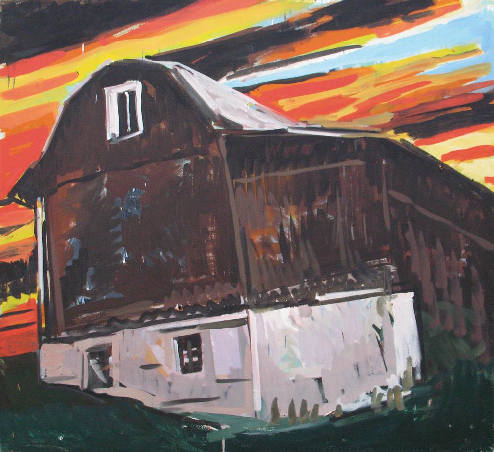 "Large barn, 36"" x 40"""