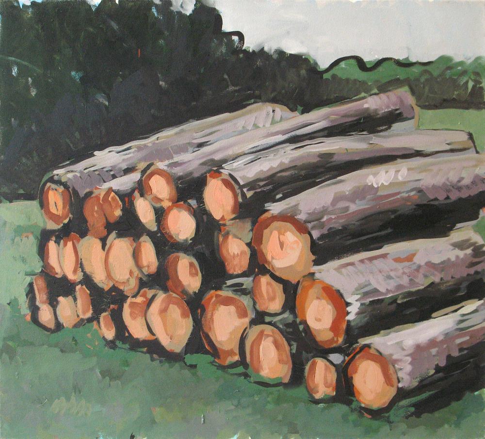 """Logs, 36"""" x 40"""""""