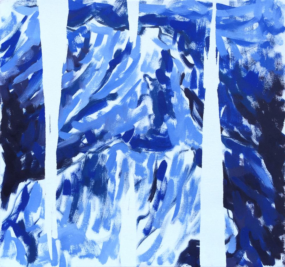 """Blue Mountain Range, 22"""" x 24"""""""
