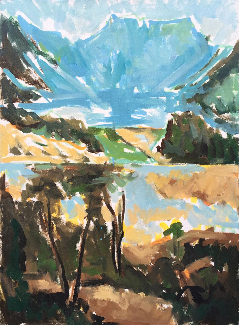 "Two Landscapes, 30"" x 22"""