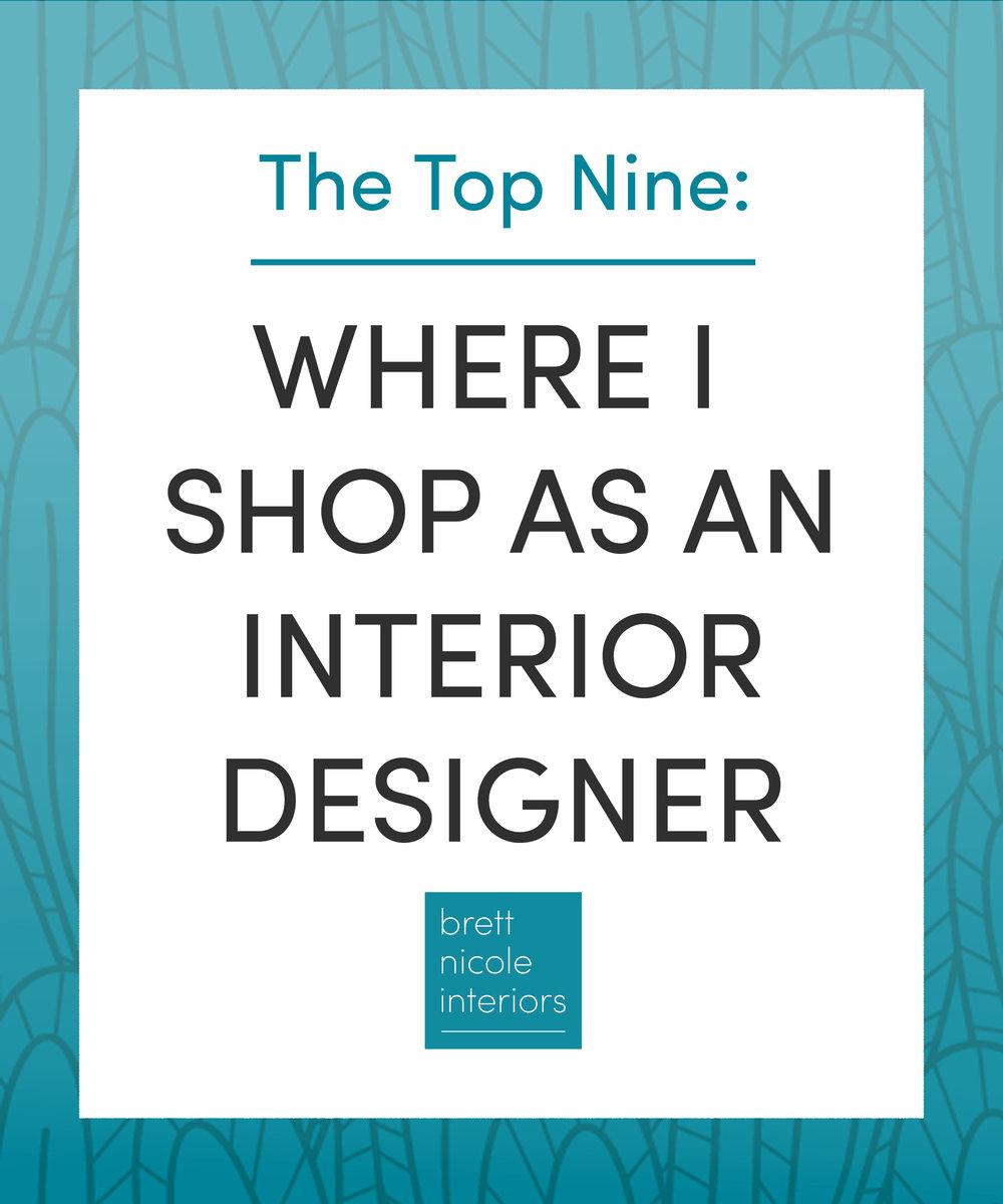 where I shop as an interior designer-blog post