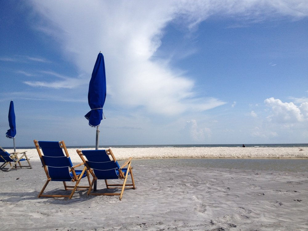 chairs and beach at Ship Island