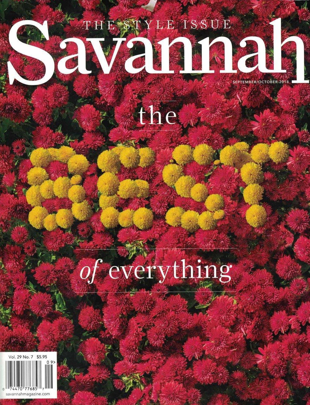 Savannah Magazine  September/October 2018