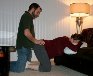 double hip squeeze doula