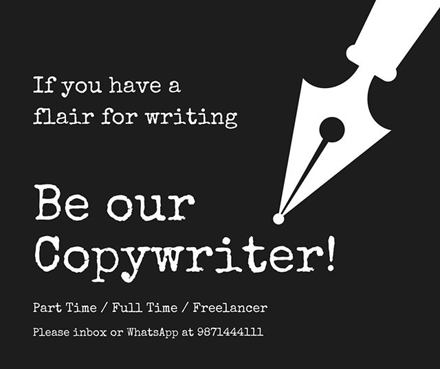 We are looking for Copywriters.