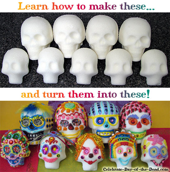 Making sugar skulls