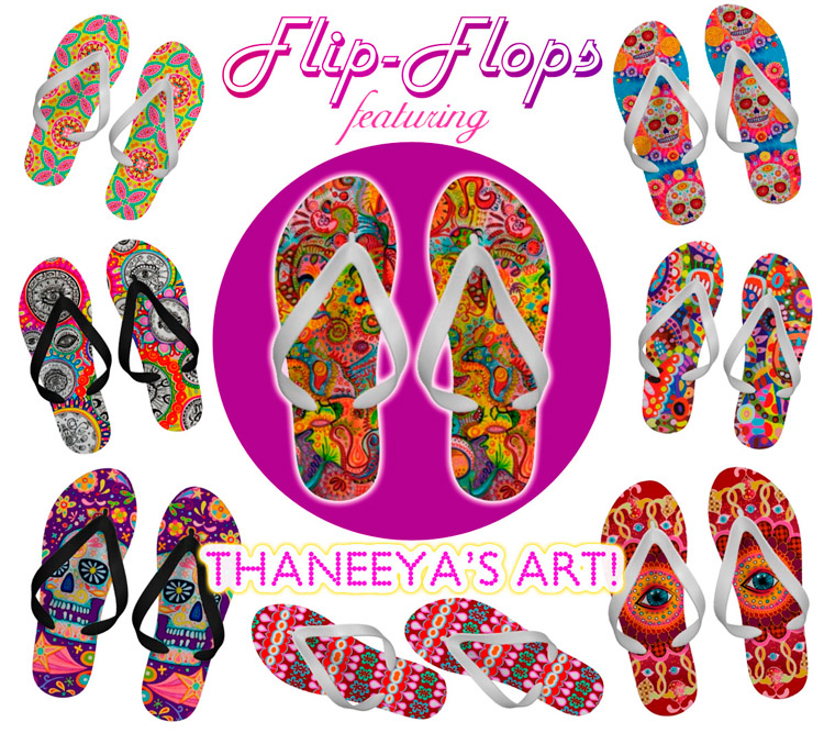 Colorful Flip-Flips Featuring Thaneeya's Art