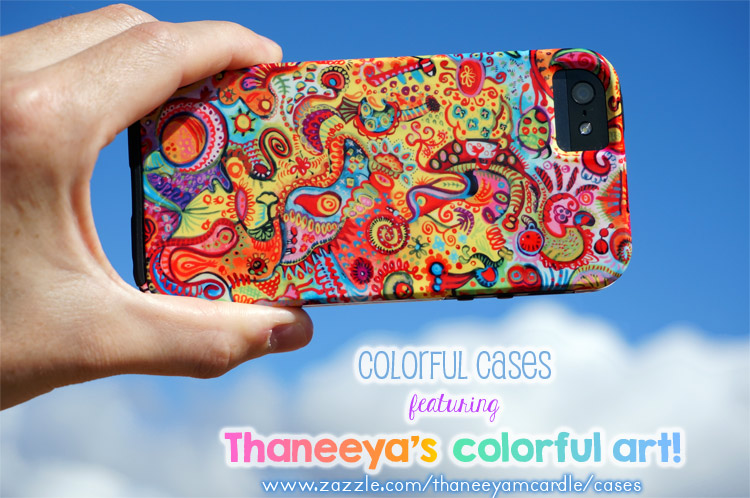 Colorful iPhone Case featuring the art of Thaneeya McArdle