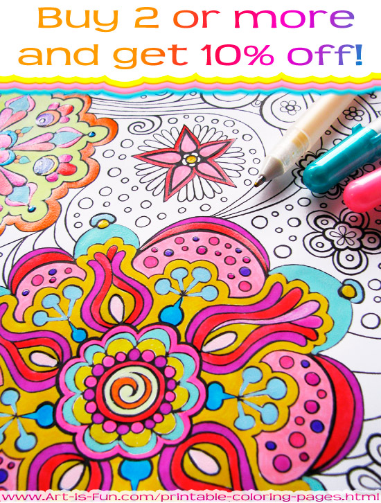 Printable Coloring Pages by Thaneeya McArdle