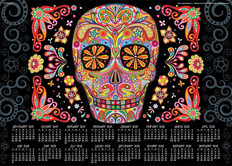 Sugar-skull-calendar-poster-by-Thaneeya-McArdle-750