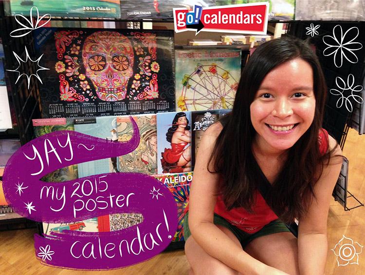 2015 Sugar Skull Calendar Poster