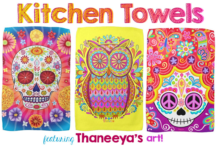 sugar-skull-owl-kitchen-towels-art-by-thaneeya-mcardle-750