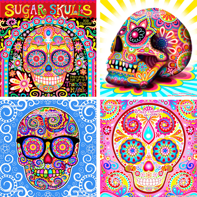 Sugar Skulls 2015 Calendar by Thaneeya McArdle