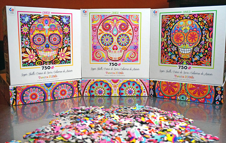Sugar Skull Jigsaw Puzzles featuring the art of Thaneeya McArdle