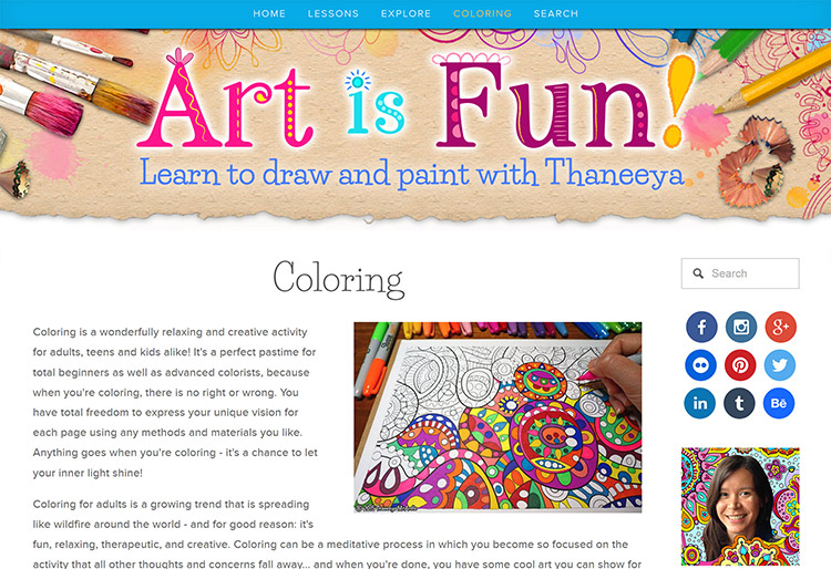 Coloring with Thaneeya on Art-is-Fun.com