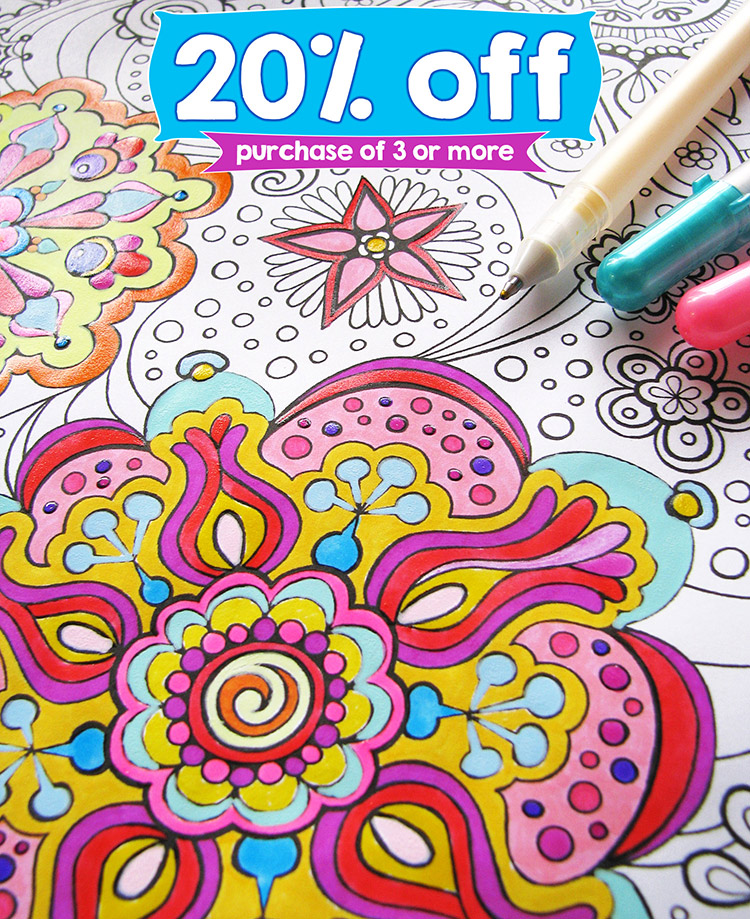 Printable Coloring Pages by Thaneeya - On Sale This Week!