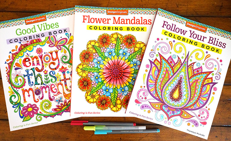 New coloring books for adults by Thaneeya McArdle
