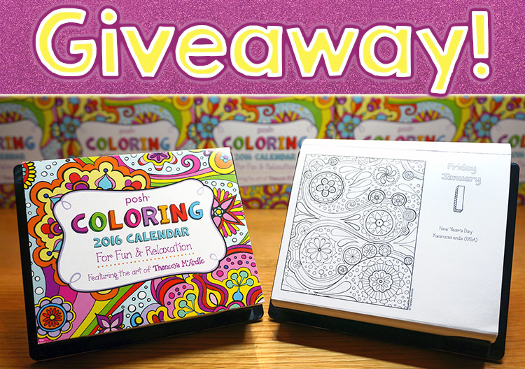 Coloring Calendar Giveaway - Enter for a chance to win!