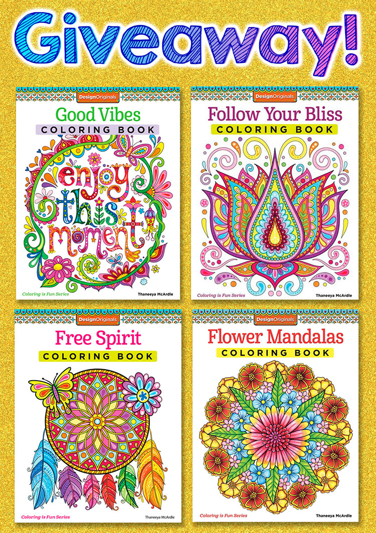 Coloring book giveaway: enter for a chance to win a free coloring book by Thaneeya McArdle