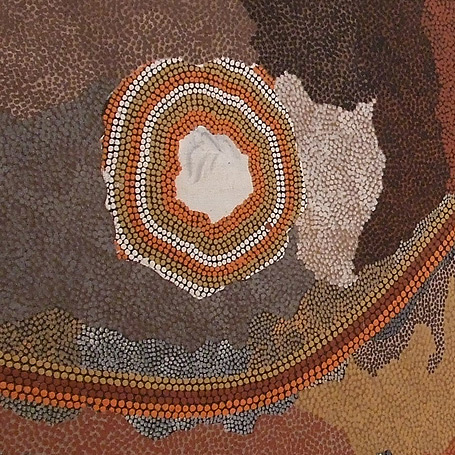close up of Aboriginal Art Dot Painting
