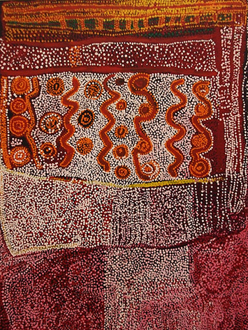 Aboriginal Dot Painting by Tommy Watson