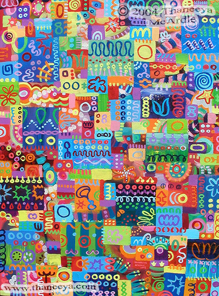 Colorful Detailed Abstract Art Painting by Thaneeya